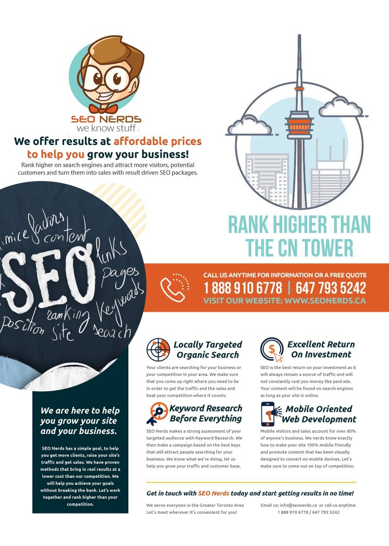 Free SEO Quote - Contact Us Toronto SEO Ontario